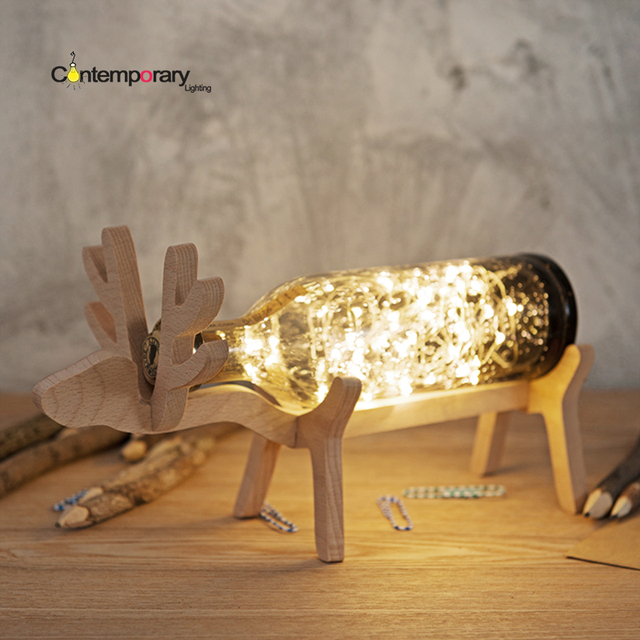 Japanese style simple designs and clever with a clean look deer japanese style simple designs and clever with a clean look deer winebottle table lamp wonderful looking aloadofball Choice Image