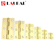 Furniture Pure Copper Miniature Hinges Brass Mini Hinge Jewelry Box Hardware Fitting