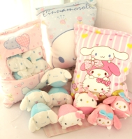 1pc 50cm cartoon Cinnamoroll My Melody kitty plush pillow cushion eight little round doll stuffed toy girl boy creative gift