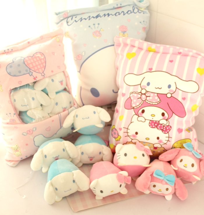 1pc 50cm cartoon Cinnamoroll My Melody plush pillow cushion eight little round doll stuffed toy girl boy creative gift