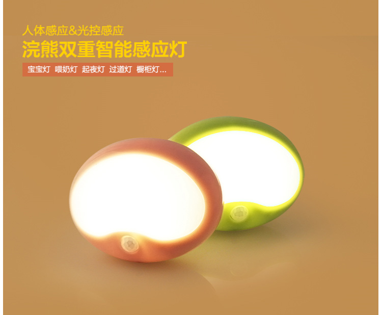 ФОТО Water body induction lamp LED light controlled energy-saving bedroom bedside lamp battery corridor cabinet lights