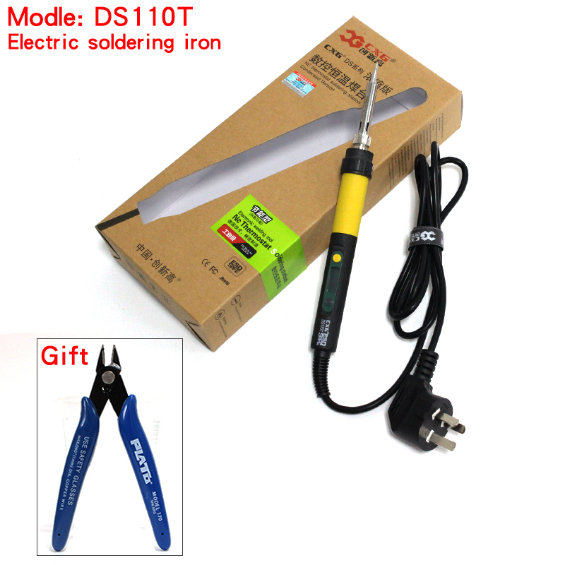 2017 high quality Digital LCD Electric soldering iron 110W CXG DS110T Adjustable temperature same as GS110D free shipping цена