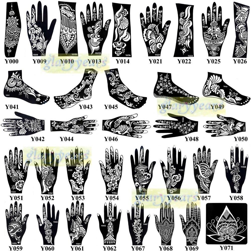 Aliexpress Buy 1pc New Fashion Mehndi Henna Glitter Tattoo – Tattoo Template