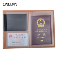 PVC Multifunction Card Cover Black Passport Holder High Quality 11 16 5cm New Style Wholsale And