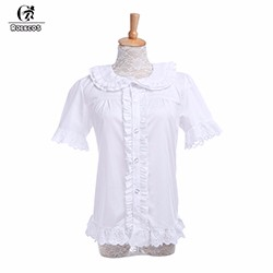 Rolecos-Brand-New-Arrival-2016-Fashion-Women-Shirts-Color-White-Lolita-Style-Ruffles-Hem-blusas-Short
