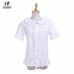316155228d1 ROLECOS Brand New Fashion Women Blouse Chiffon Black White Long ...