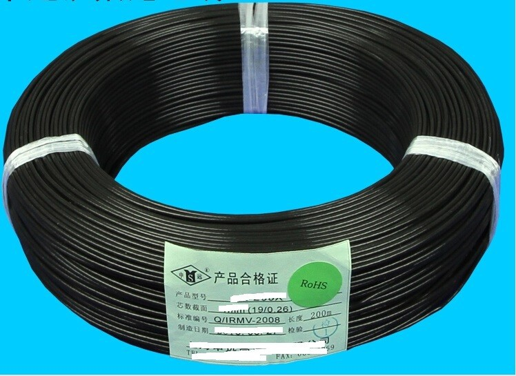 Black  Total 200M Loop Detector Inductive Coil Wire Cable For Detecting  Vehicle