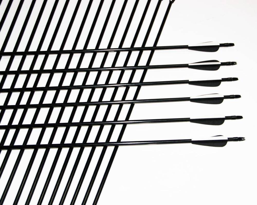 Лидер продаж 80 см 8 мм Стекло Волокно стрелка Пластик Fletching стрельба из лука стрелки 2015 Лидер продаж лук стрелы Охота стрельба из лука Беспла...
