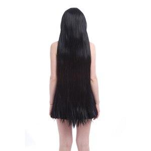 Image 4 - L email วิกผมผู้หญิงใหม่ 100 ซม.คอสเพลย์วิกผมยาวตรงสีดำสูงเส้นใยสังเคราะห์เส้นใยสังเคราะห์เส้นใยสังเคราะห์คอสเพลย์วิกผมคอสเพลย์วิกผม