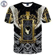 Mr.1991INC Fashion brand men's 3d tshirt printed funny animals eagle sexy tops tees eagle T-shirt MDT59