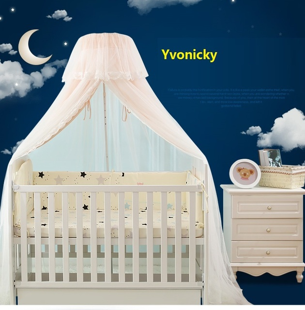 2 layers Baby Crib Mosquito Net Infants Shading Chiffon Bed canopy Boy girl 4 Seasons Summer & 2 layers Baby Crib Mosquito Net Infants Shading Chiffon Bed canopy ...