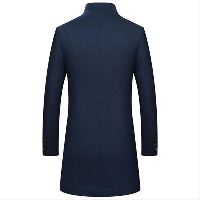 Jaket De Pour Tricotés Hommes 2018 vent Nouveau blue Black En Coupe Épaissie Manteau Laine D'hiver Occasionnels 0nwPk8OX