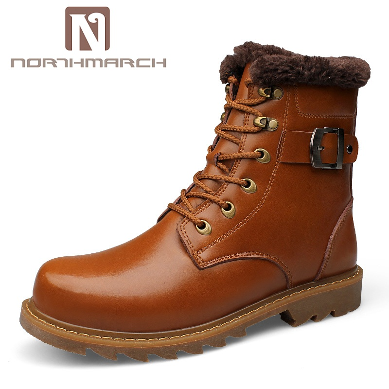 NORTHMARCH Men's Boots Genuine Leather Fashion Brand Men's Shoes Winter Ankle Boots Men Dr Martins Bota Masculina Couro Sapatos