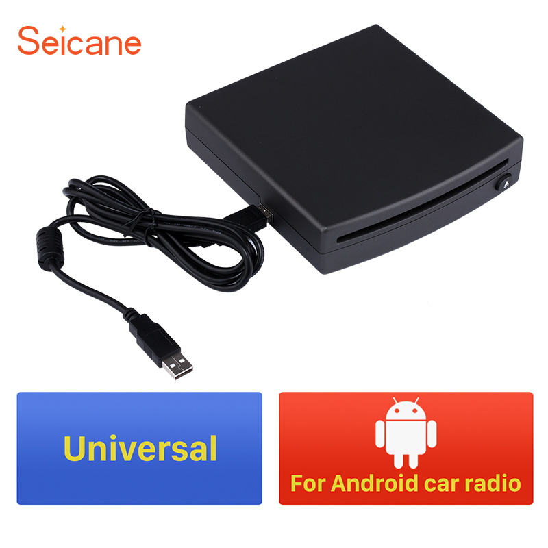 Seicane Convenient and useful Universal External HD 1 din DVD Player for Android car radio with USB connection 9 inch car headrest dvd player pillow universal digital screen zipper car monitor usb fm tv game ir remote free two headphones