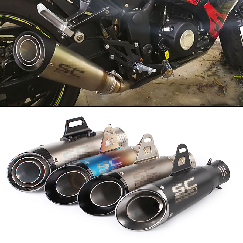 Motorcycle Exhaust Akrapovic Echappement Moto Universel SC Exhaust Pipe DB Killer Pitbike For R6 K6 Z650 CBR1000 GSXR650 MSX125