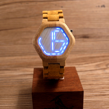 Digital Wooden Watch LED Night Vision