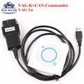 Высокое Качество VAG K + CAN COMMANDER 3.6 VAG Диагностический Инструмент VAG KCAN 3.6 Сканер Инструмент VAG 3.6 Диагностический Кабель