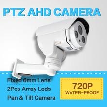 Bullet AHD 1.0MP PTZ Cámara 6mm Lente, Proyecto Visión Nocturna de HD 720 P IR 30 M Impermeable IR-CUT, Media Velocidad Pan/Tilt de Rotación