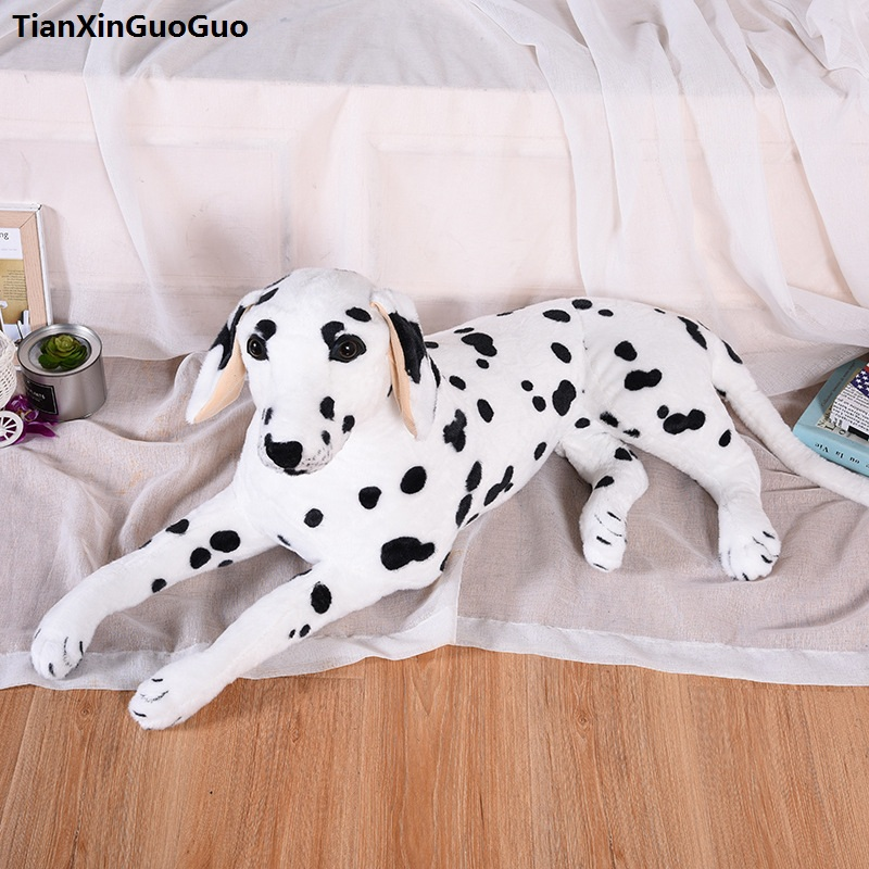 large 80cm lovely prone dalmatian plush toy soft doll throw pillow birthday gift h2332 large 90cm cartoon pink prone pig plush toy very soft doll throw pillow birthday gift b2097