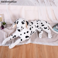 large 80cm lovely prone dalmatian plush toy soft doll throw pillow birthday gift h2332