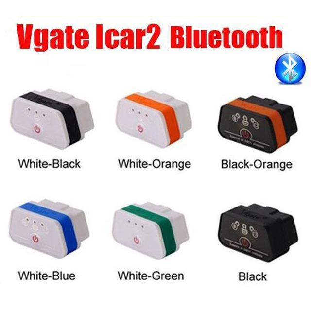 Multicoulor Más Reciente Vgate iCar2 Bluetooth OBD Escáner iCar 2 ELM327 Bluetooth Interface de Diagnóstico del Lector de Código de Todo Protocolo