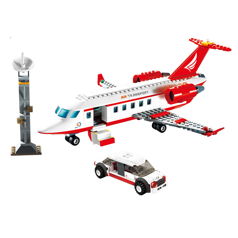334pcs Airplane Toy Air Bus Model Airplane Building Blocks Sets Model DIY Bricks