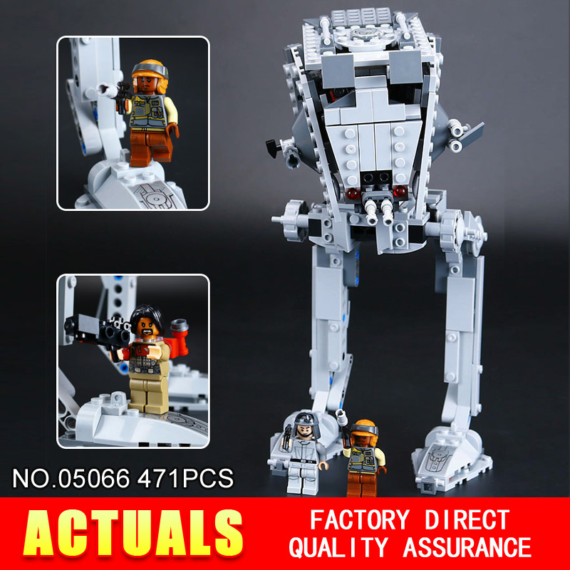 ФОТО Lepin 05066 STAR WARS Series 471Pcs AT-ST Walker  Building Blocks Bricks Model Toys 75153