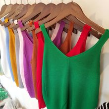 Women Casual Cropped Top Ladies Sexy V neck Knitted Tank Hollow Out T-shirt Casual Shirt 11 Colors