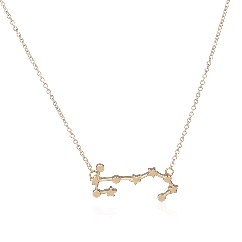 Unique oly2u 2017 New Scorpio Zodiac Signs Astrology Necklace  FP01