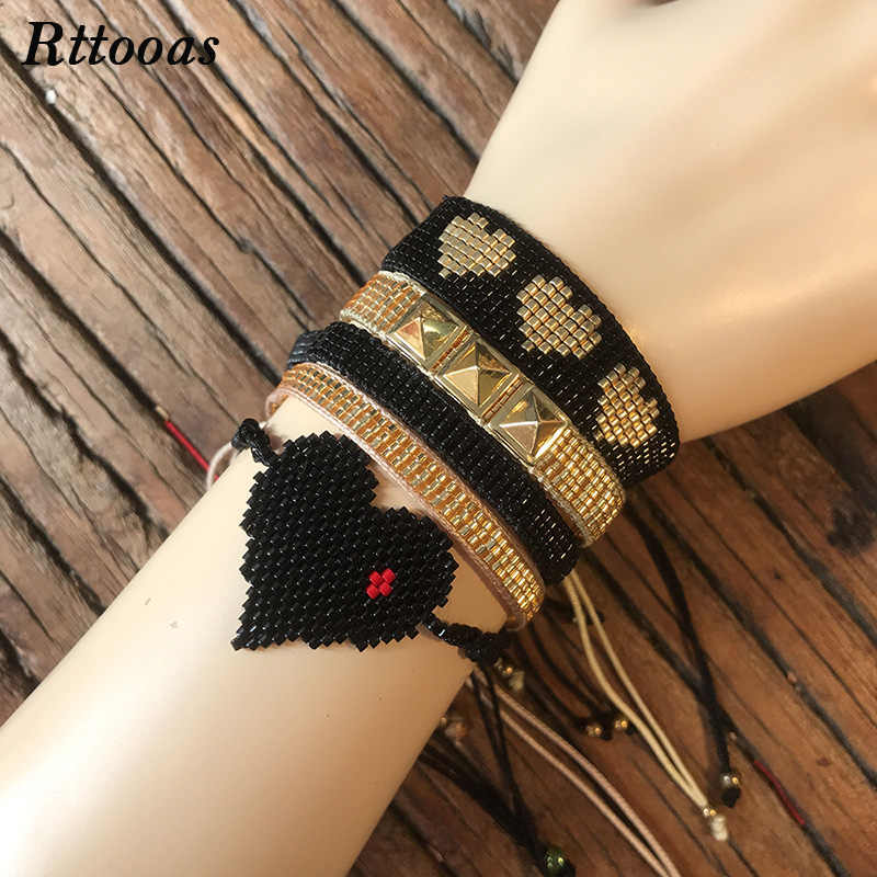 Rttooas Fashion 5 pcs/Set Bracelet Women Jewelry Accessories Summer Boho High Quality Handmade MIYUKI Beads Bracelet