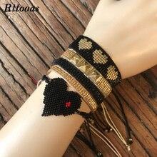 Rttooas Fashion 5 pcs/Set Bracelet Women Jewelry Accessories Summer Boho High Quality Handmade MIYUKI Beads