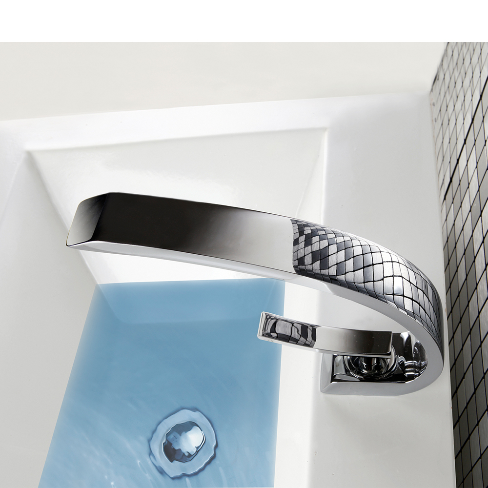 POP Modern Basin Faucets Waterfall Bathroom Faucet Single Handle ...