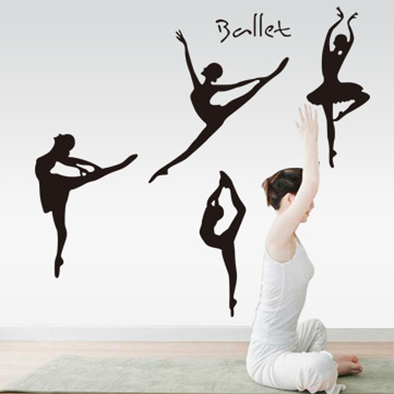 Wall Stickers Decal Home Decor For Ballet Studio Lady Yoga