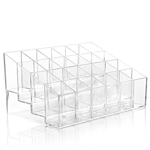 Hot Clear Acrylic 24 Lipstick Holder Display Stand Cosmetic Organizer Makeup Case