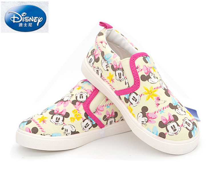 Disney children flat girls canvas shoes student casual loafers Minnie sneakers toddler baby kids running durable white shoes children canvas shoes 2016 boys girls loafers designer kids canvas sneakers children footwear casual chaussure kids flat shoes
