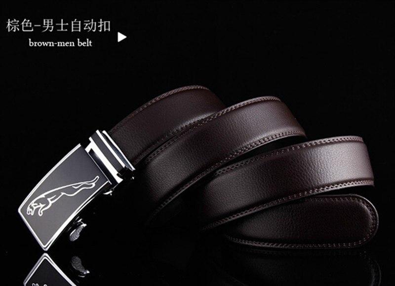Автоматическая пряжка ремень для мужчин Леопардовый логотип ширина тела 3,5 см мужской кожаный известный бренд Роскошное дизайнерское, высокого качества бизнес