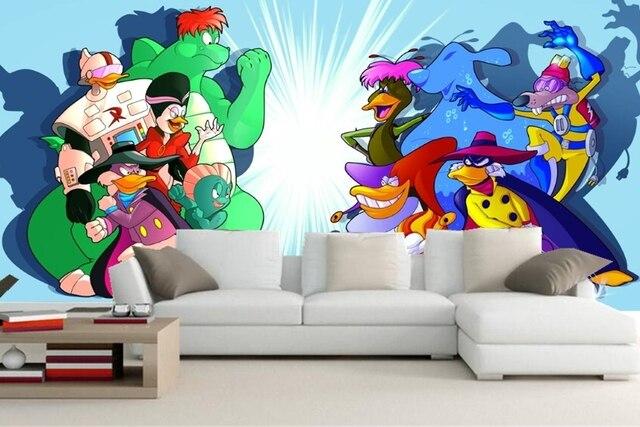 Kids Bedroom Tv aliexpress : buy custom 3d mural,cartoon lovely duck wallpaper