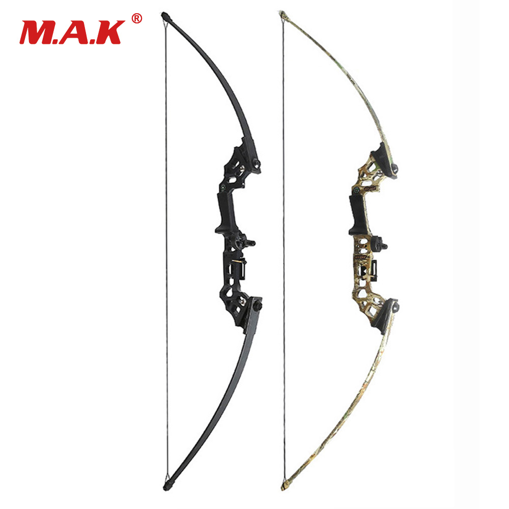 40 Lbs Straight Pull Bow Black/Camouflage for Right Handed for Compound Bow Archery Hunting Shooting Game Outdoor Sports 30 40 lbs straight bow length 50 inches for right handed archery bow shooting hunting game outdoor sports
