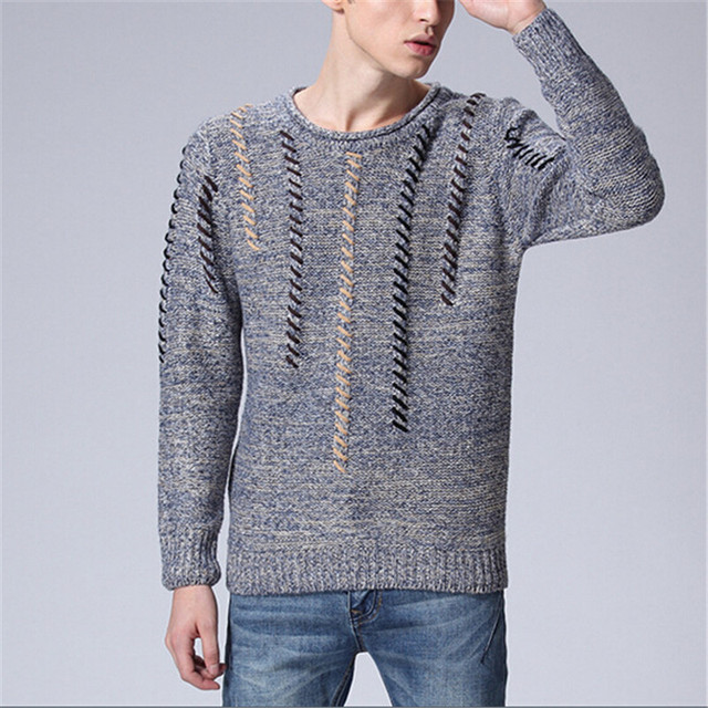 Jacquard Knitting Patterns Sweater New Thick Warm Brand Cashmere