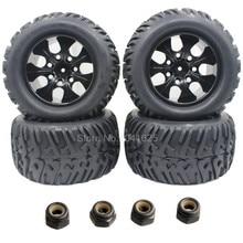 4 Unidades 125mm RC 1/10 Ruedas de Camiones y Neumáticos 12mm Hexagonal Para Off Road Monstruo