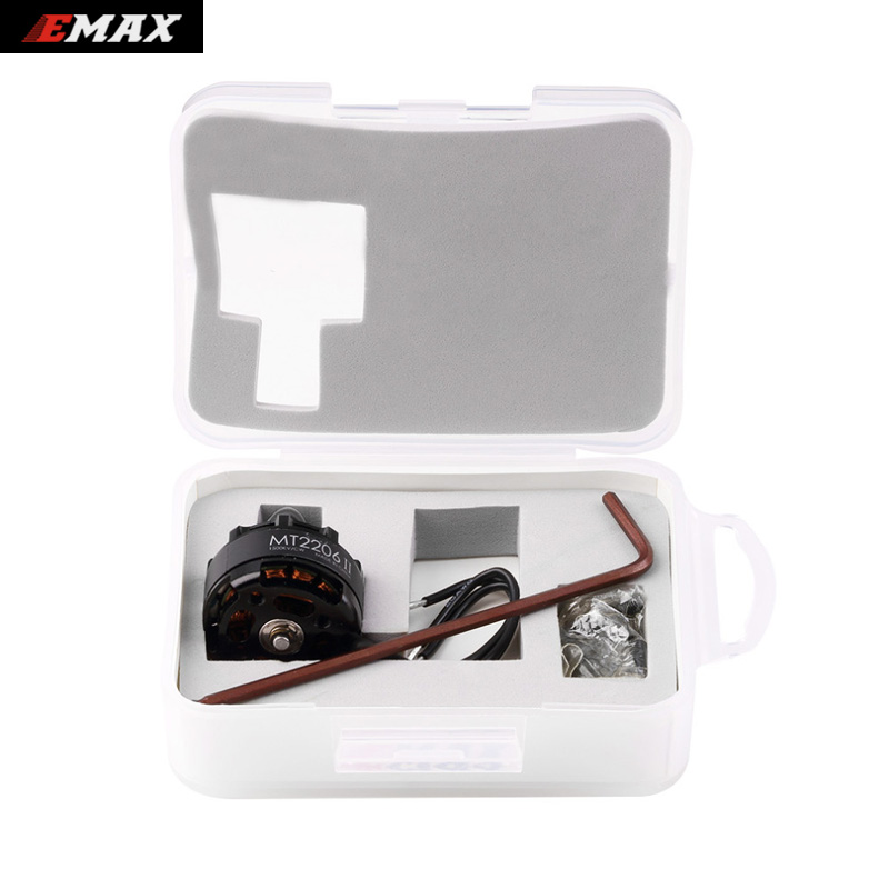 1set Original Emax Cooling New MT2206 II 1500KV Brushless Motor CW or CCW for RC QAV250 F330 Multicopter wholesale original emax rs1104 5250kv brushless motor t2345 tri blades propellers cw ccw props for 130 rc brushless racer drone q20400