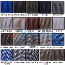 New 9 Core Strand 100FT (31M) Mil Spec Type III Survival 550 Paracord Parachute Cord 100% Nylon Survival Kits