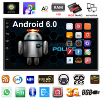 2 Din Car Radio GPS Navigation Android 6 0 Car Audio Player Touch Screen Quad Core