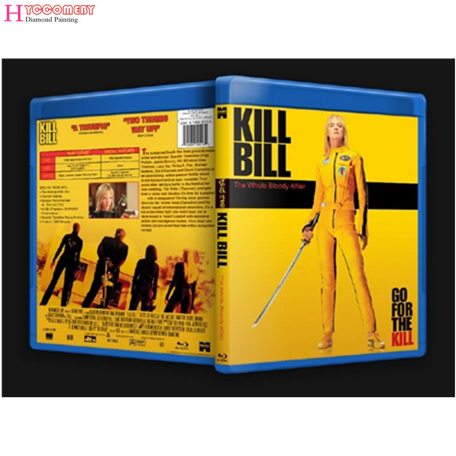 wholesale,DIY full square Diamond 5D Diamond painting movie poster Kill Bill,Embroidery Cross Stitch 3D Rhinestone mosaic