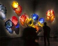Multi Color 100 Hand Blown Glass Art Decorative Wall Plates