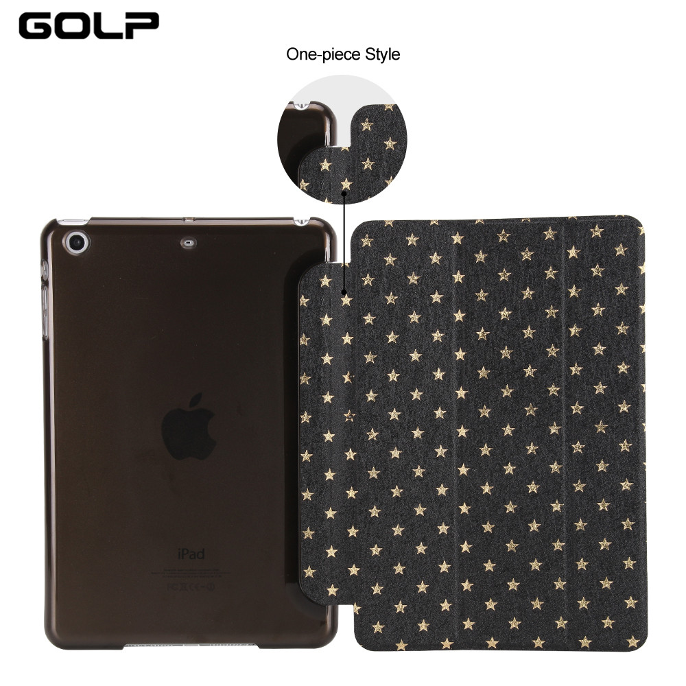 GOLP Case For Apple iPad mini 1 2 3 Shiny Star Pattern Ultra Slim Hard PC Auto Sleep Wake Smart Cover For Apple iPad mini 1 2 3 apple ipad mini smart case black mgn62zm a