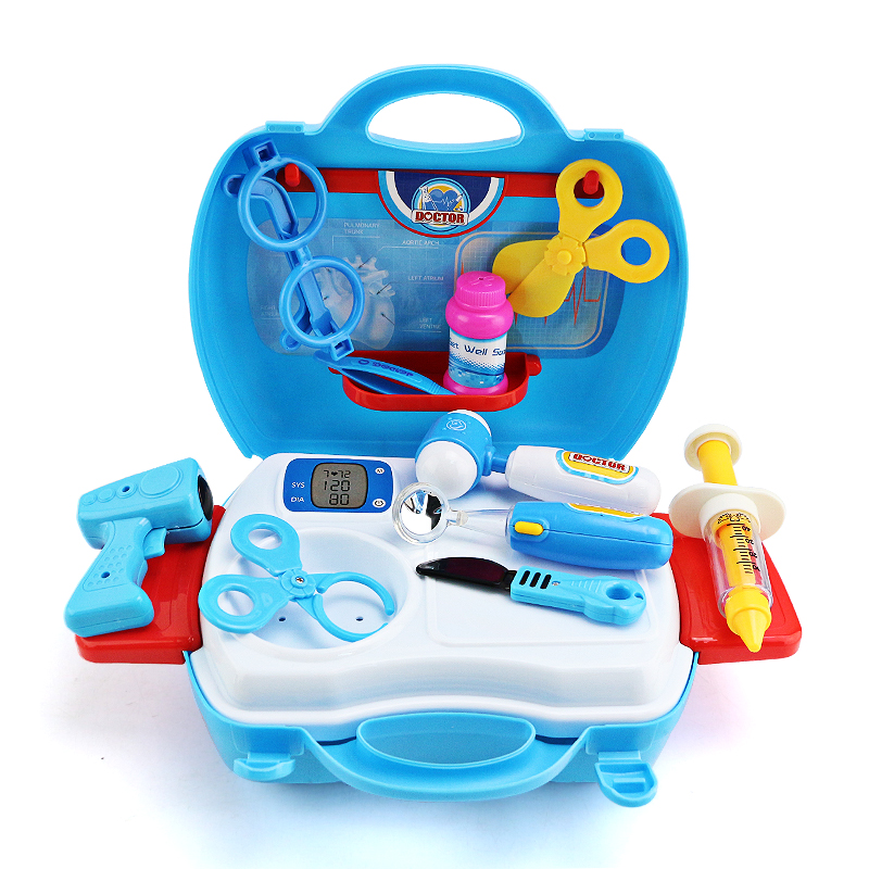 17pcs Doctor Play Toys Set Doctor Roleplay for Child Medical Kit Baby Educational Box Light Role Pretend Classic Gift
