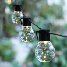 LED String Lights Decoration Outdoor Christmas Globe Festoon Bulb Battery Operated 220V Wedding Party Garland LED Fairy Lights chinese style led lantern flashing string festoon light battery operated lamp christmas wedding new year garland outdoor garden