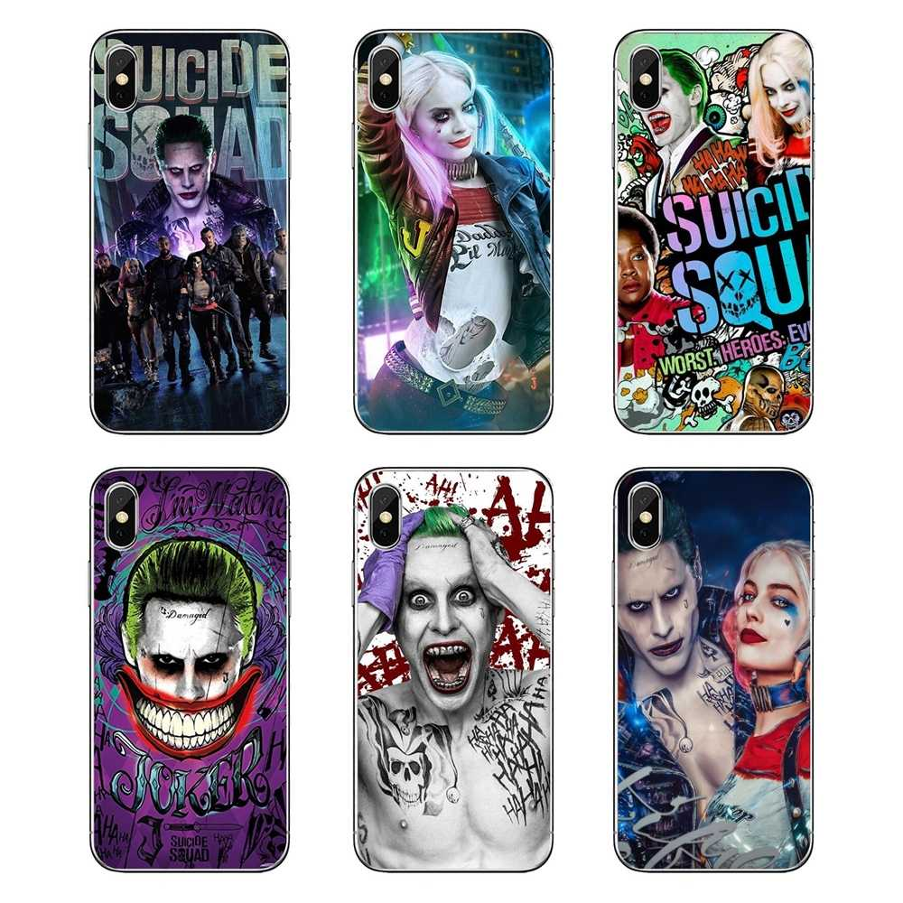 Soft Transparent Cases Covers For Huawei P20 Lite Nova 2i 3i 3 GR3 Y6 Pro Y7 Y8 Y9 Prime 2018 2019 Harley Quinn Suicide Squad
