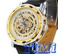 Men wholesale Watch Steel Automatic Gold Skeleton Chronograph New